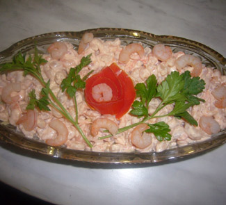 Рецепт Салат с креветками Розовый