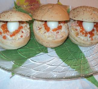 Рецепт Закуска с креветками Морская раковина