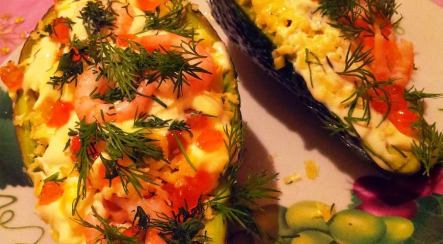 Рецепт Авокадо, фаршированное креветками