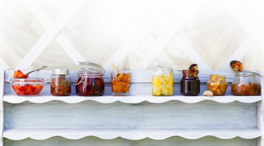 Рецепт Клюквенное варенье с персиками