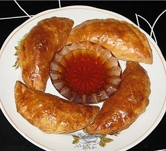 Рецепт Слоеные пирожки с креветками