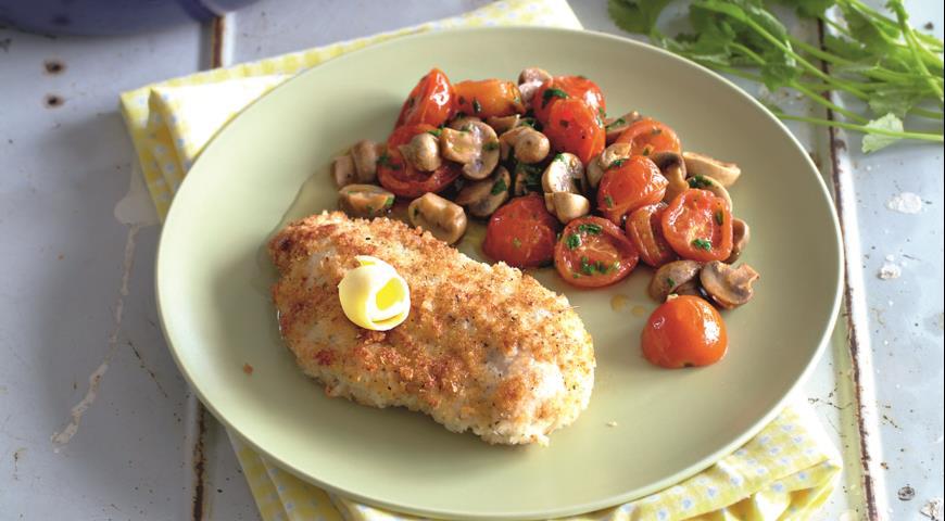 Рецепт Курица в панировке с медовым маслом