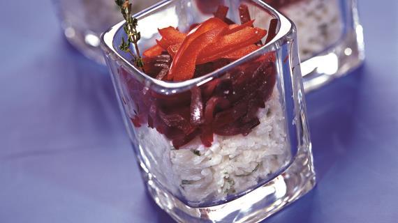 Рисовый салат со свеклой