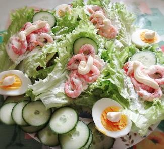 Рецепт Большой бутерброд с креветками Завтрак морского царя