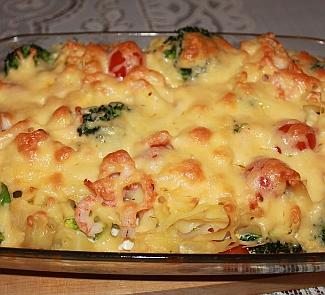 Рецепт Запеканка с брокколи и креветками