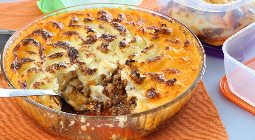Рецепт Картофельная запеканка с мясом (Пастуший пирог)