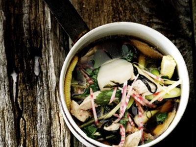 Рецепт Постный овощной суп с морепродуктами
