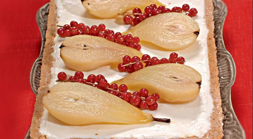 Рецепт Миндальный чизкейк с грушами