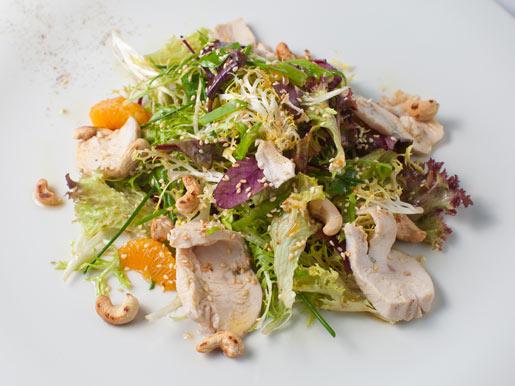 Рецепт Салат с куриным филе и мандарином