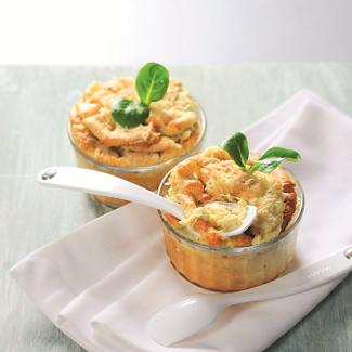 Рецепт Суфле из брокколи и трех видов сыра