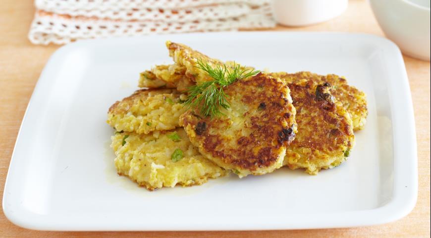 Рецепт Рисовые оладьи с сыром