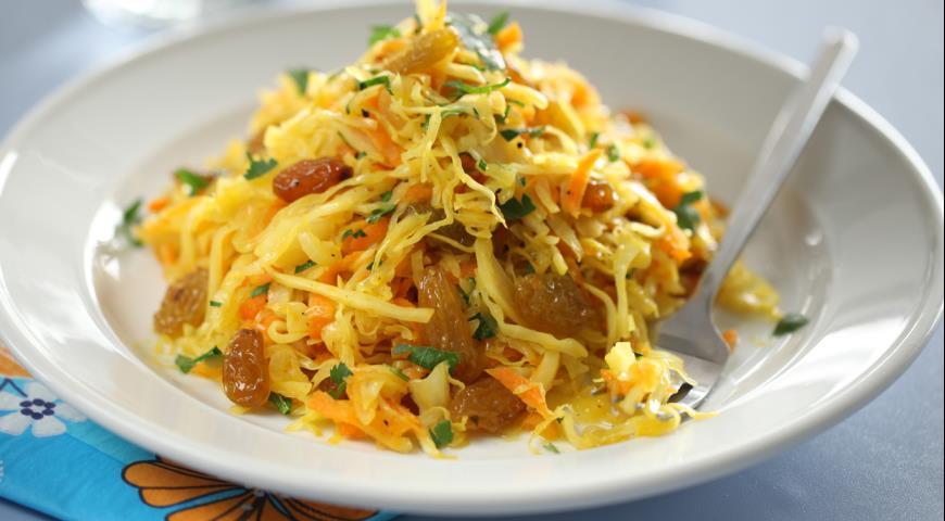 Рецепт Теплый капустный салат
