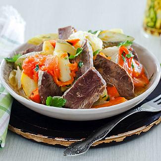 Рецепт Говяжье сердце с овощами в мультиварке