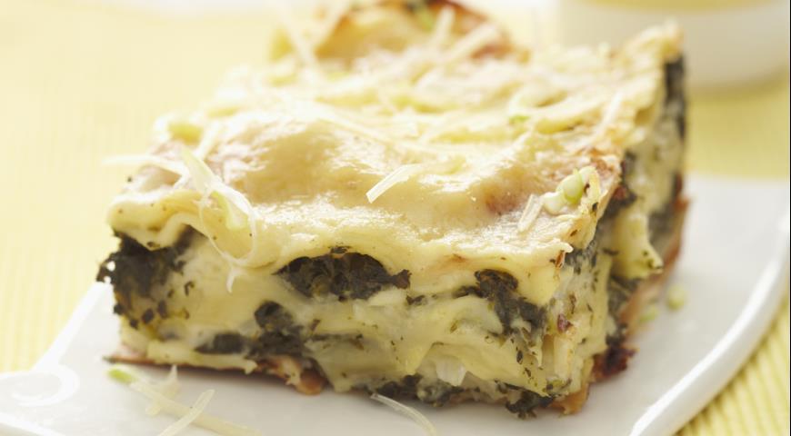 Рецепт Лазанья с картофелем и шпинатом