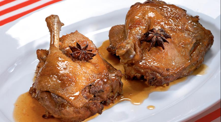 Рецепт Тушеная утка с абрикосовым соусом