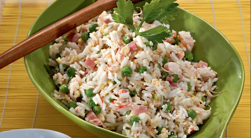 Рецепт Жареный рис по-шанхайски