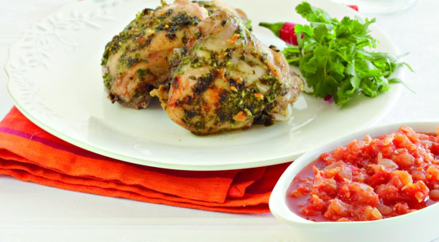 Рецепт Запеченные куриные ножки с аджикой