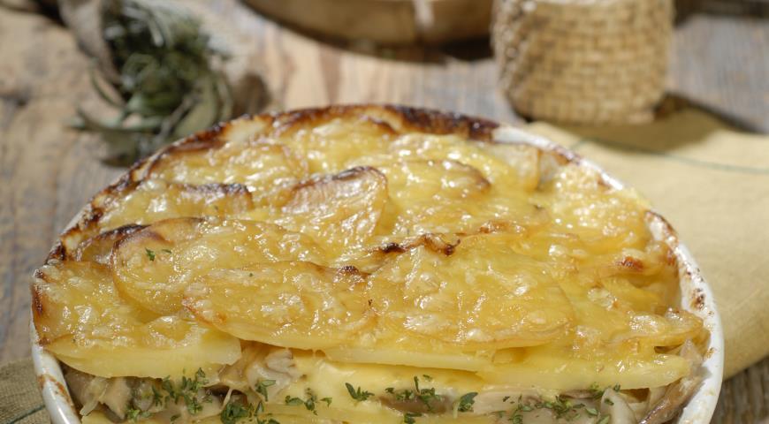 Рецепт Овощная запеканка с вешенками