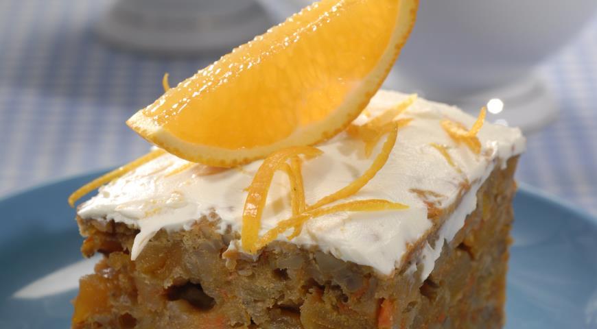 Рецепт Морковный пирог с апельсиновой глазурью