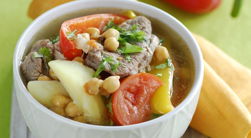 Рецепт Нахут шурпа с бараниной