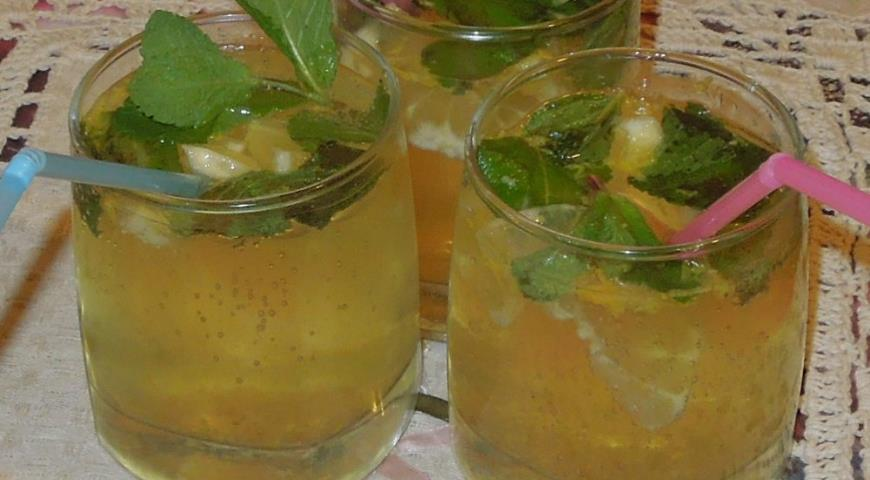 Рецепт Холодный лимонный пунш с шампанским