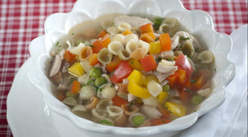 Рецепт Куриный суп с мини-пастой