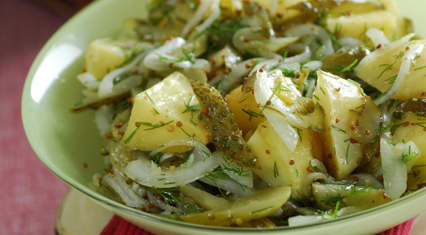 Рецепт Теплый салат из печеного картофеля