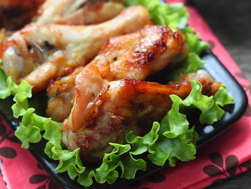 Рецепт Куриные крылышки в апельсиновом маринаде