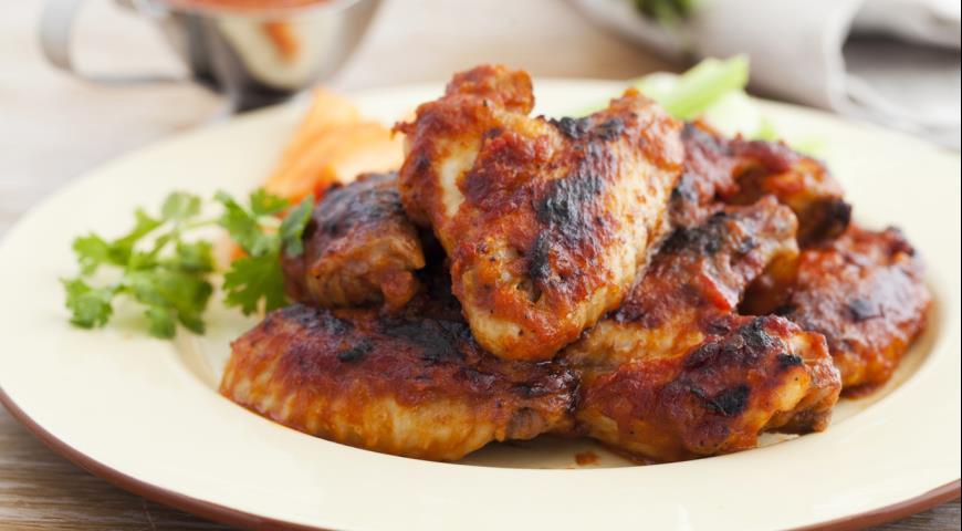 Рецепт Куриные крылышки с соусом барбекю