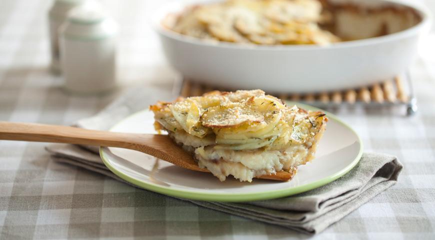 Молодая картошка с рыбой и укропом, пошаговый рецепт с фото