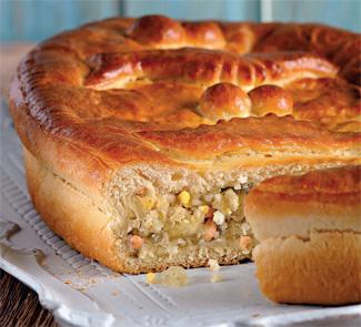 Пирог с визигой и лососем, пошаговый рецепт с фото