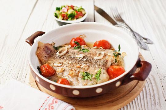 Рецепт Рыба с сальсой из помидоров и авокадо
