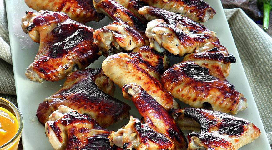 Рецепт Острые куриные крылышки с соусом манго