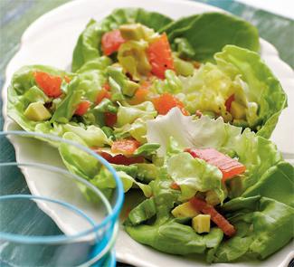 Рецепт Салат из авокадо с семгой