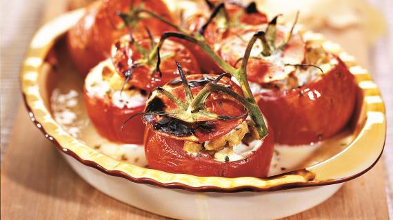 Фаршированные помидоры. Горячий способ.