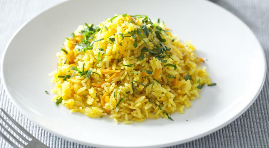 Рецепт Ароматный рис с морковью