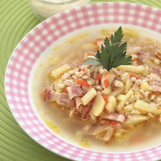 Рецепт Рассольник с копченой грудинкой