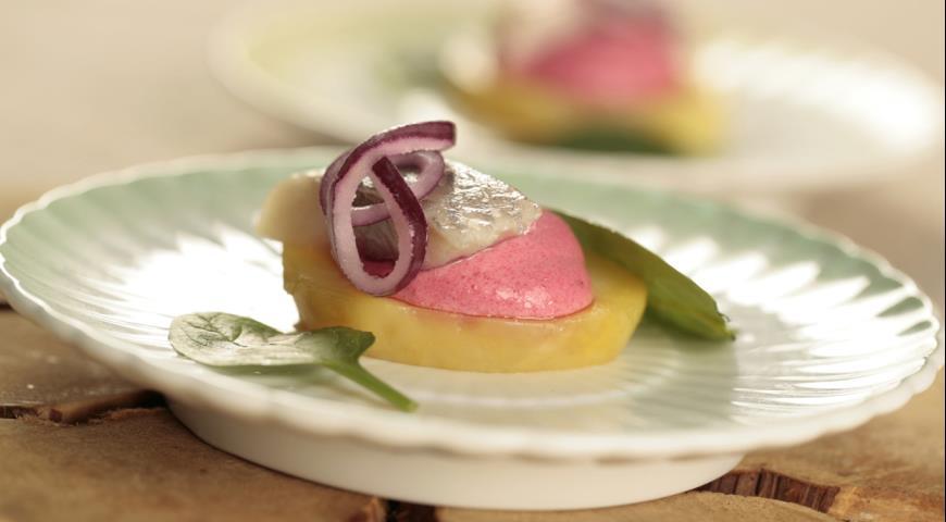 Рецепт Закуска из картофеля с сельдью