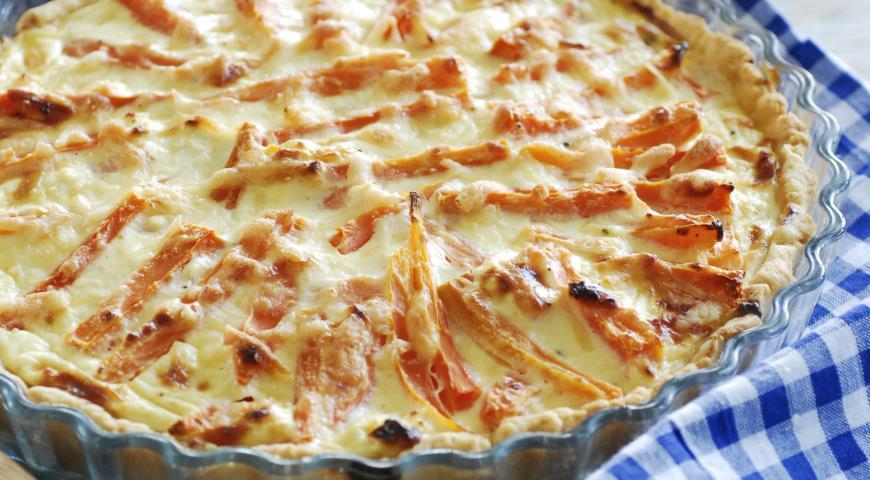 Рецепт Открытый пирог с морковью