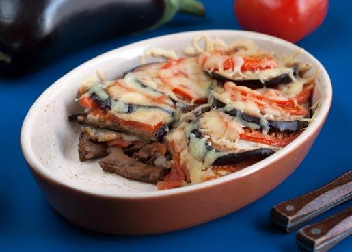 Рецепт Запеканка из лисичек и баклажанов