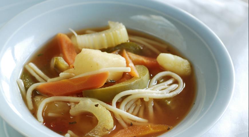 Рецепт Буру-буру - суп из овощей и пасты с корфу