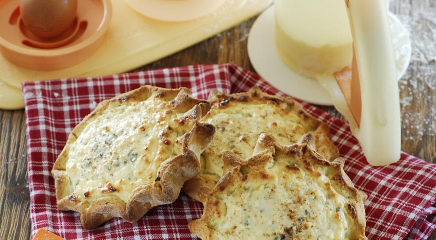 Рецепт Калицуния, пирожки с творогом на оливковом масле