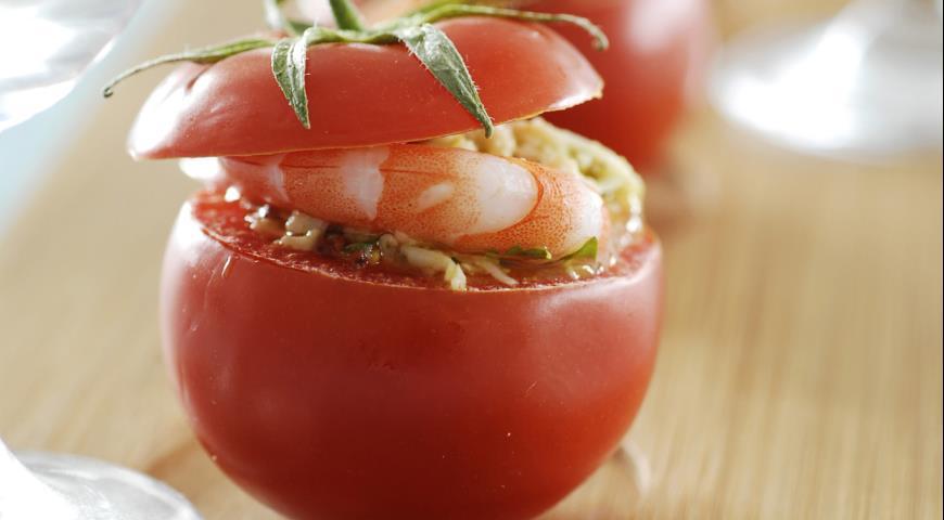 Рецепт Помидоры с сыром и креветками