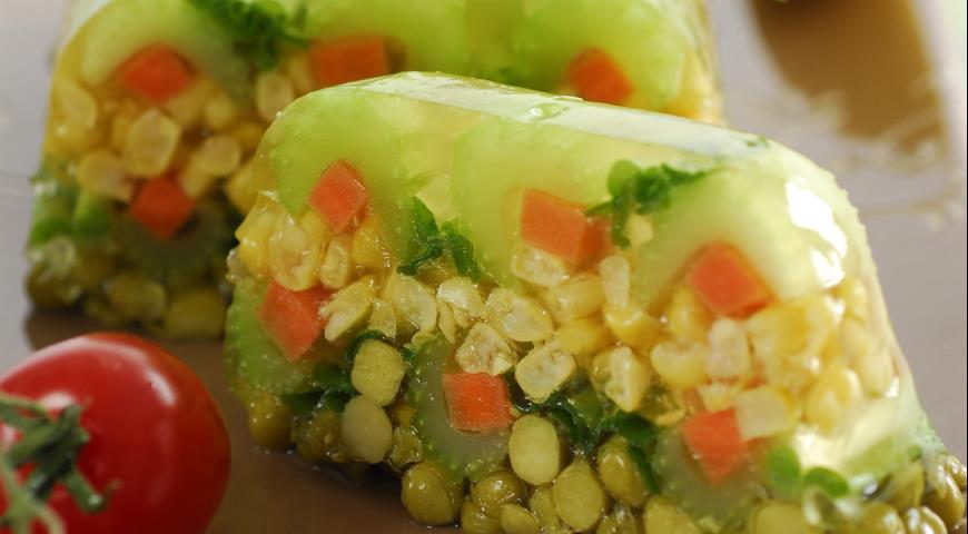 Рецепт Заливное из овощей