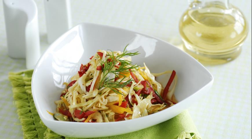 Рецепт Острый капустный салат