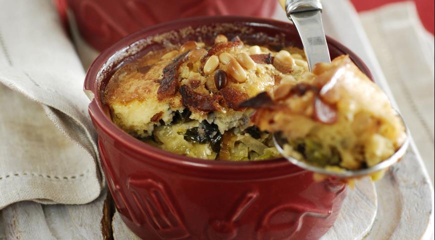 Рецепт Запеканки-клафути с овощами и беконом
