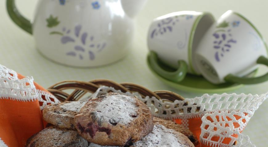 Рецепт Творожное печенье с вишней
