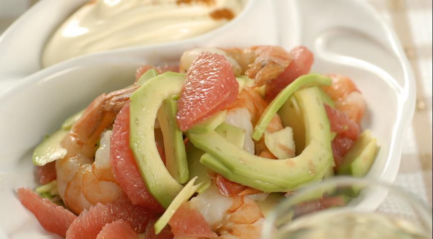 Рецепт Калифорнийский салат с грейпфрутами
