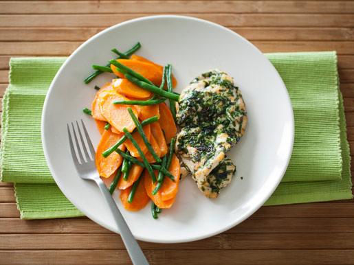 Рецепт Куриная отбивная с морковью