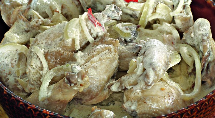 Рецепт Цыплята по-черкесски
